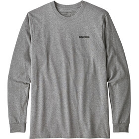 Patagonia P-6 Logo - T-shirt manches longues Homme - gris